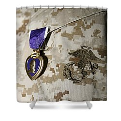 The Purple Heart Award Shower Curtain by Stocktrek Images
