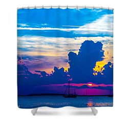 The Purple Sunset Shower Curtain