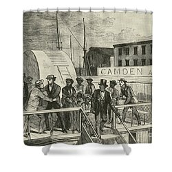 The Rescue Of Jane Johnson And Her Shower Curtain by Photo Researchers