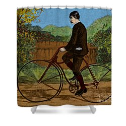 The Rover Bicycle Shower Curtain by Science Source