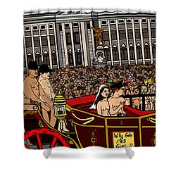 The Royal Nude Wedding Shower Curtain by Karen Elzinga