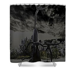 Shower Curtain featuring the photograph The Why Group  by Larry Depee