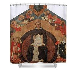 Thomas Aquinas, Italian Philosopher Shower Curtain by Photo Researchers