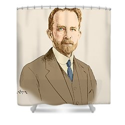 Thomas Hunt Morgan, American Geneticist Shower Curtain by Science Source