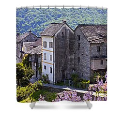 Ticino Shower Curtain by Joana Kruse