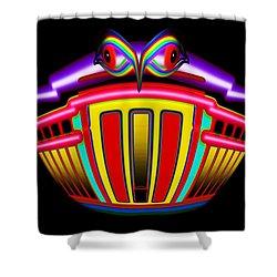 Tin Bank Shower Curtain by Charles Stuart