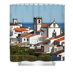 Town By The Sea Shower Curtain by Gaspar Avila