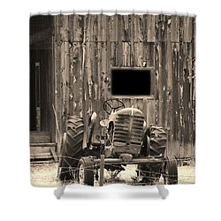 Tractor And The Barn Shower Curtain