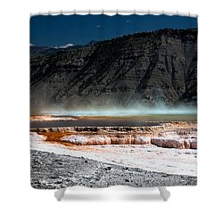 Travertine Terraces Shower Curtain by Ralf Kaiser