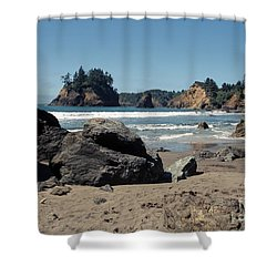 Trinidad Beach Shower Curtain by Sharon Elliott