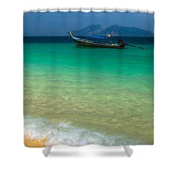 Tropical Paradise Shower Curtain by Adrian Evans