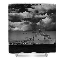 Uss Fort Mchenry Shower Curtain
