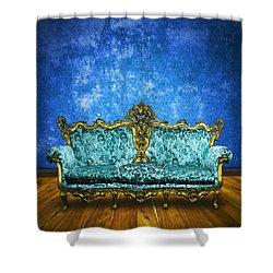 Victorian Sofa In Retro Room Shower Curtain by Setsiri Silapasuwanchai
