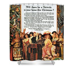 Victrola Advertisement Shower Curtain by Granger