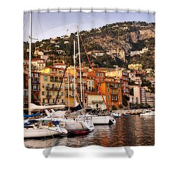 Shower Curtain featuring the photograph Villefranche-sur-mer  by Steven Sparks