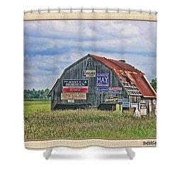Shower Curtain featuring the photograph Vote For Me II by Debbie Portwood