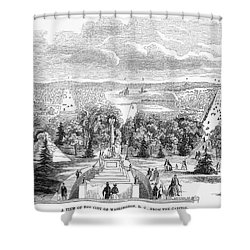 Washington, D.c., 1853 Shower Curtain by Granger