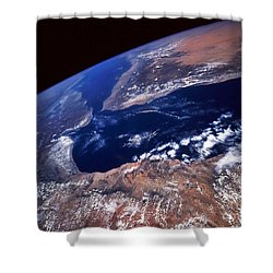 Water And Land Shower Curtain by Stocktrek Images