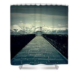 Way To Heaven Shower Curtain by Joana Kruse