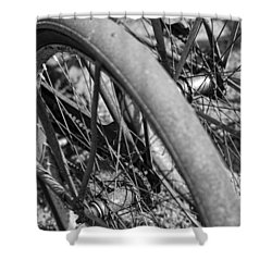Western Flyer Shower Curtain by Gordon Dean II