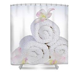 White Spa Shower Curtain by Elena Elisseeva