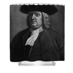 William Penn, Founder Of Pennsylvania Shower Curtain by Photo Researchers