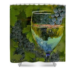 Wine Glass Shower Curtain by Stephanie Laird