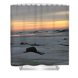 Winter Evening Lights Shower Curtain
