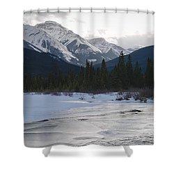 Winter Landscape, Banff National Park Shower Curtain by Keith Levit
