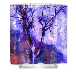 Winter Tree Shower Curtain by Ron Jones