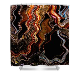 Wired Shower Curtain by Skip Nall