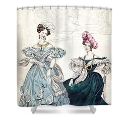 Womens Fashion, 1833 Shower Curtain by Granger