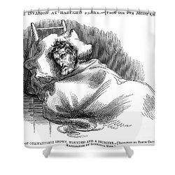 Wounded John Brown, 1859 Shower Curtain by Granger