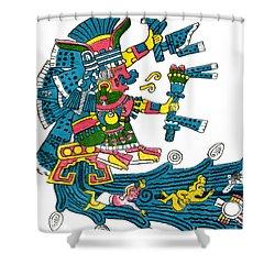 Xochiquetzal, Aztec Goddess Of Beauty & Shower Curtain by Photo Researchers