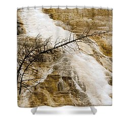 Shower Curtain featuring the photograph Yellowstone Color by J L Woody Wooden