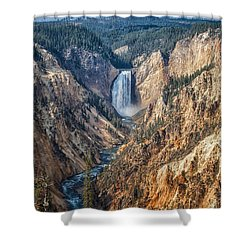Yellowstone Lower Falls Shower Curtain