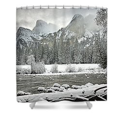 Yosemite National Park, California, Usa Shower Curtain by Robert Brown
