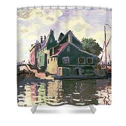 Zaandam Shower Curtain by Claude Monet