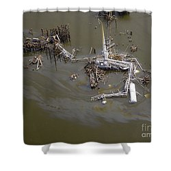 Hurricane Katrina Damage Shower Curtain by Science Source