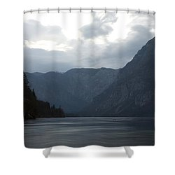 Lake Bohinj At Dusk Shower Curtain