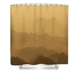 None Shower Curtain by Ian Cumming