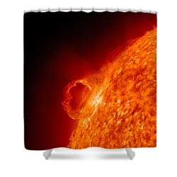 Solar Prominence Shower Curtain by Science Source