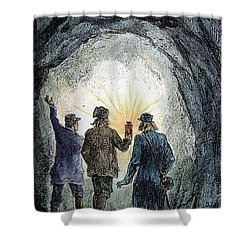 Verne: Journey Shower Curtain by Granger