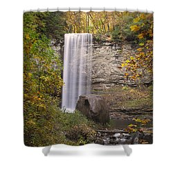 Waterfall Shower Curtain by David Troxel