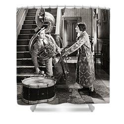 Silent Film Still: Music Shower Curtain by Granger