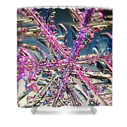 Snowflake Shower Curtain by Ted Kinsman