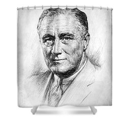 Franklin Delano Roosevelt Shower Curtain by Granger