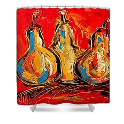 Pears Shower Curtain by Mark Kazav