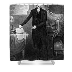 Thomas Jefferson (1743-1826) Shower Curtain by Granger