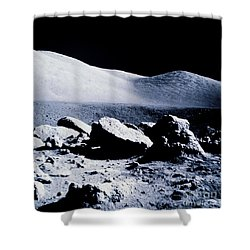 Apollo Mission 17 Shower Curtain by Nasa